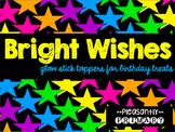 Birthday Glow Stick Toppers