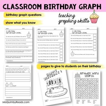 Birthday Graph - Display - Teach Self-Esteem and Graphing Skills