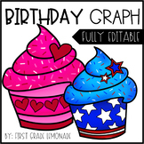 Birthday Graph Editable - Classroom Birthday Display
