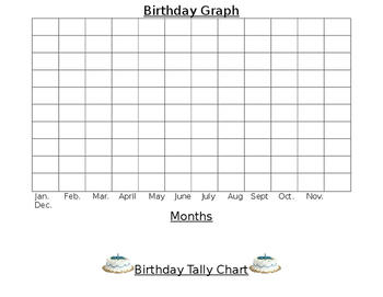 Birthday Graph Paper and Birthday Tally Chart