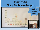 Class Birthday Graph with Sticky Notes