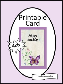 Birthday Greeting Card Friend Mom Sister Teacher Digital