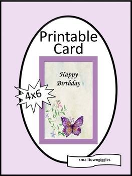 Printable Birthday Card For Friend Mom Sister Teacher Volunteer Paraeducator