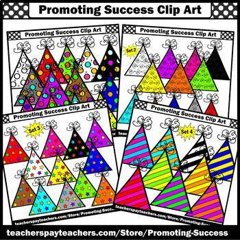 Birthday Clipart BUNDLE Party Hats Commercial Use SPS