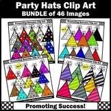 Birthday Clipart BUNDLE Party Hats Clip Art SPS
