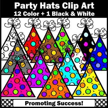 Birthday Hats Clipart Primary Colors Clip Art, Birthday Party Hats Clip Art SPS