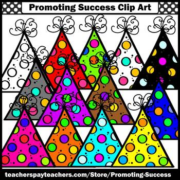 Birthday Party Hats Clip Art for TpT Sellers SPS