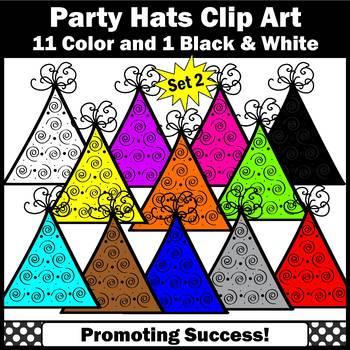 Birthday Hats Clipart SET 2, Kids Birthday Party Hats Clip Art SPS