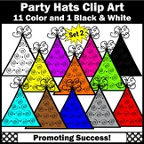 Happy Birthday Party Hats Clipart SET 2 SPS
