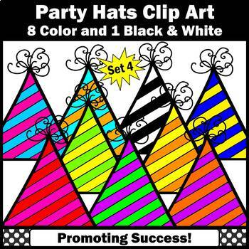 Birthday Clip Art Party Hats Set 4 SPS