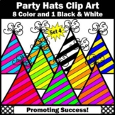 Birthday Party Hats Clip Art Set 4 SPS