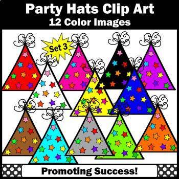 Birthday Clip Art Party Hats SET 3 SPS