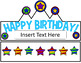 Birthday Hats (Editable)