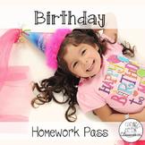{FREEBIE} Birthday Homework Pass