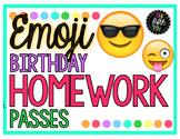 Birthday Homework Pass Emoji Theme