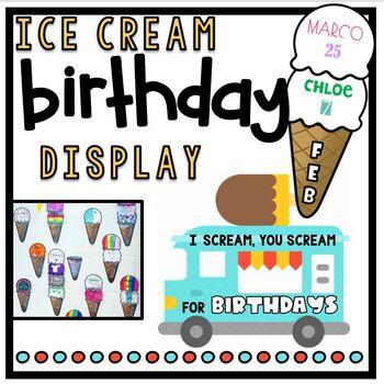 Birthday Ice Cream Cone Display