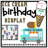 Birthday Ice Cream Cone Display