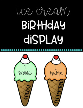 Birthday Ice Cream Cone Display (Editable)