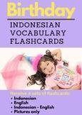 Birthday Indonesian Vocabulary Flashcards | Ulang Tahun | Bahasa Indonesia