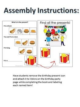 "Categories Adapted Book ""Birthday"": Identify Pictures with Inferencing (Autism)"