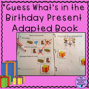 Categories Adapted Book Birthday- Identify Pictures with Inferencing for Autism