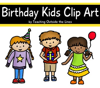 Birthday Kids Clip Art Trio Freebie