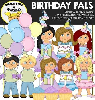 Birthday Kids {Digital Clips 4 Teaching}