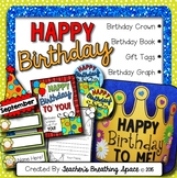 Birthday Kit -- Birthday Crown, Birthday Book, Birthday Graph Display, Gift Tags