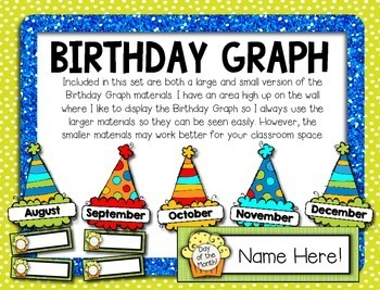 Birthday Kit -- Birthday Crown, Birthday Book, Birthday Graph Display, Gift Tags