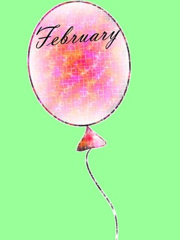Birthday Balloons - Months of the Year - Glitter