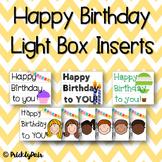 Birthday Light Box Inserts