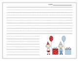 Birthday Lined Writing Paper {FREEBIE}