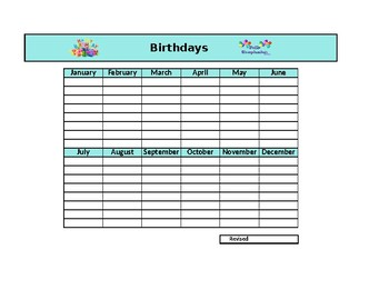 Birthday list template by barnychs bilingual buddies tpt birthday list template maxwellsz