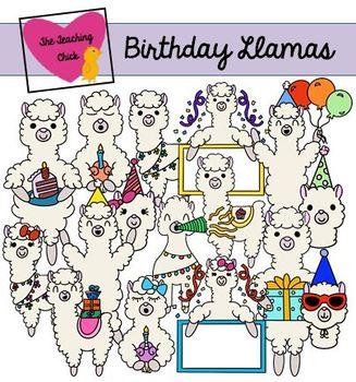 Birthday Llama Clip Art