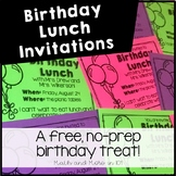 Birthday Lunch Invitations