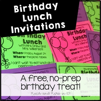 Birthday lunch invitations by math and more in 104 tpt filmwisefo