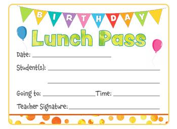 Birthday Lunch Pass