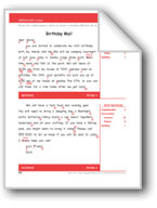 Birthday Mail (Gr. 4/Week 5)