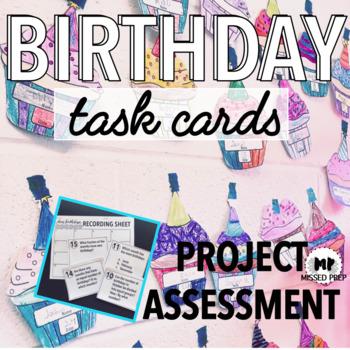 Birthday Math - Beginning of the Year Activity
