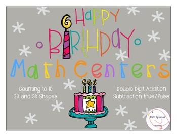 Birthday Math Centers