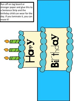 Happy Birthday Bulletin Board Graph and Differentiated Birthday Activities