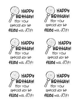 Birthday Message Printable Sticky Notes FREEBIE