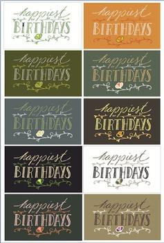 Birthday Mini-Cards