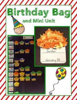 Birthday Mini Unit and Take Home Journal with Craftivity