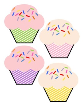 Birthday Month Cupcakes with candles