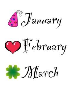 Birthday Month Labels