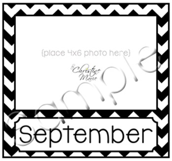 Birthday Month Photo Frame - Black and White