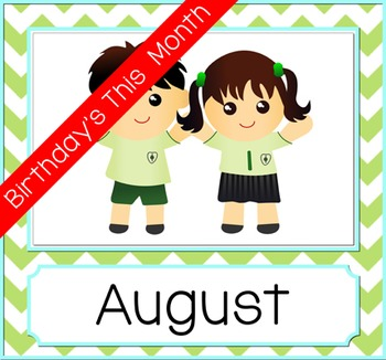 Birthday Month Photo Frame - Green