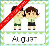 Birthday Month Photo Frame - Green