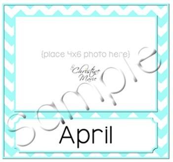 Birthday Month Photo Frame - Teal